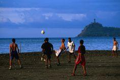 Boys playing soccer game on beach. - East Timor, next dream destination