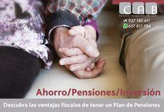 #Ahorro #Pensiones #Inversión. Descubra las ventajas fiscales de tener un #PlandePensiones. #CABCorredoria #SegurosBaricentro