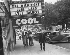 Movie Theater Show One Wild Night Showing 1938 Vintage 8x10 Reprint Of Old Photo