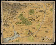 Map of Zinchel and Surroundings  Profantasy's Map-making Journal - User Maps