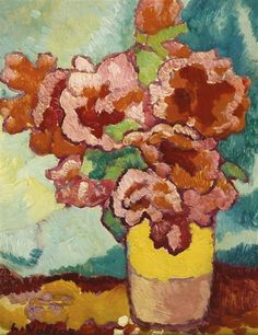 Vase de fleurs (1940) by Louis Valtat (1869-1952), French artist associated with the Fauves (mutual art)