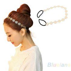 moda senhora nova linda metálico oco rosa flor elástico de cabelo cabeça banda cabeça headwear acessórios mulheres guirlanda US $1.11