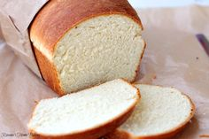 "White sandwich bread recipe.  ""Simplest bread recipe, soft and fluffy, with a yellowish crumb and a chewy crust..."""