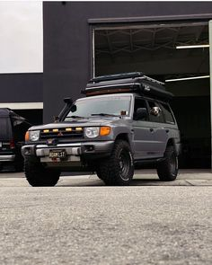 That Cement Color 👌🏼 . . Owner: @roaminglost . . LIKE and FOLLOW us on FACEBOOK and join our FACEBOOK GROUP to stay updated! Mitsubishi Shogun, Mitsubishi Pajero Sport, Off Road Wagon, Pajero Off Road, 2001 Jeep Cherokee, Cement Color, Japanese Domestic Market, Adventure Campers, Truck Camping