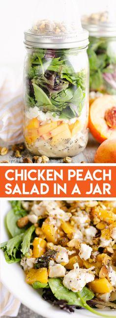 Main Dish Salads, Dinner Salads, Healthy Meal Prep, Healthy Salad Recipes, Lunch Recipes, Healthy Eating, Salad Works, Seven Layer Salad, Greek Chicken Salad