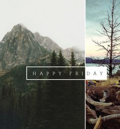 """""""Happy Friday"""" is kind of stupid, but I really like the idea of two words being dividing this way."""