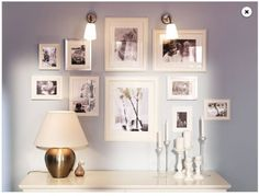 with black frames for bedroom wall