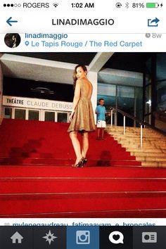 red carpet canne #open back dress