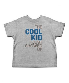 Another great find on #zulily! Heather Gray 'The Cool Kid' Tee - Toddler & Kids #zulilyfinds