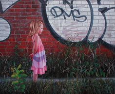 Photorealistic Paintings Mixed with Graffiti by Kevin Peterson, http://inspiredvox.com/kevin-peterson-painting/