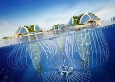 Belgian architectVincent Callebautdeveloped plans for an amazing oceanic city built out of recycled rubbish.This futuristic building proposal extends 1,000 meters down into the depths of the sea, and plans to be made entirely of 3D-printed plastic waste materials. Named for a species of bioluminescent jellyfish, this fictional city goes by the name of Aequorea. The architectural concept serves to highlight our current situation of dwindling natural resources as well as the overwhelming…
