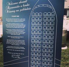 retro airplane wedding seating chart printable by idoityourself