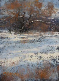 A Little Snow by Margi Lucena Pastel ~ 7 x 5