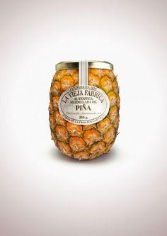 la-vieja-fabrica-jam-pineapple.jpg ジャムのおいしさをダイレクトに伝えるパッケージデザイン「Jam La Vieja Fabiba」:DesignWorksArchive