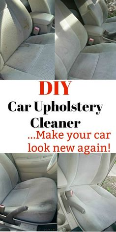 This DIY car upholstery cleaner will get your interior looking like new in no time. I love cheap car hacks that are simple and can be used on multiple fabrics.