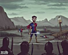 "Karikatura - Zezo Cartoons:"" Messi "" #barçainfo #rangloo, #bar, #accessories Football Jokes, Best Club, Sports Memes, Lionel Messi, Fc Barcelona, Army, Funny, Movie Posters, Painting"