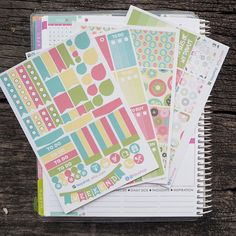 Donut Theme Complete Set Sticker Planner // Perfect for Erin Condren Life Planne by FasyShop on Etsy