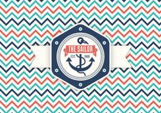 Retro Nautical Label Icon Set