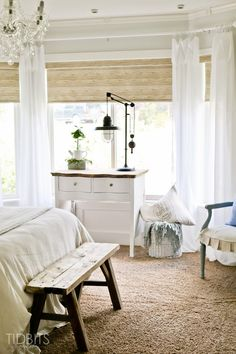 Master bedroom with bay window. #ideas #decor #furniture #light #airy #modern #minimalist