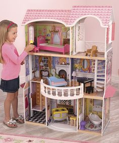Can not wait to get her a doll house eventually! Love this Magnolia Dollhouse on #zulily! #zulilyfinds
