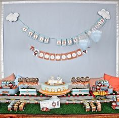 Inspiration for vintage airplane birthday party! Love the colors! #aviationweddingairplanebirthdayparties