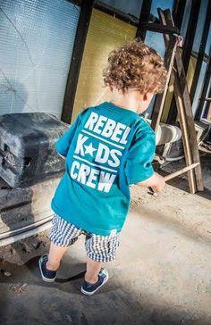 'Rebel Kids Crew' - Koszulka Dziecięca - Morska