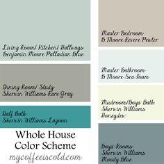 Whose House Coastal Paint Scheme TheDomesticHeart Com Color