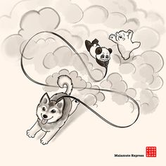 Finally there's someone who can out run Panda...! Poor Polar Bear, but what a bundle of fun! :)