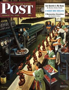 Happy World Chocolate Day! (Cover: Stevan Dohanos, March 25, 1950)