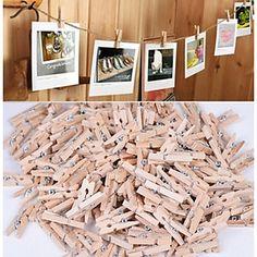 Tre Øko-venlig Materiale Bryllupsdekorasjoner-50Stykke/Sett Vår Sommer Høst Vinter Ikke personalisertDen er en god hjelp til ditt bryllup - NOK kr. 35