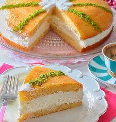 Kek için: 4 adet yumurta 1 çay bardağı ılık süt 1 su bardağından biraz eksik toz şeker Yarım paket kabartma tozu 1 buçuk su bardağı elenmiş un 1 paket vanilya Krema için: 1 paket kremşanti (kaymaktadında) Yarım paket labne Şerbet için : 2 su Sorbet, Cheesecake, Food And Drink, Desserts, Rage, Tutorial Sewing, Kitchens, Tutorials, Cake Ideas