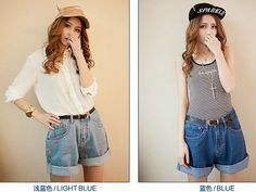 Fashion Summer shorts pant casual high waist denim wide leg short for women plus size free shipping-inPants & Capris from Apparel & Accessories on Aliexpress.com