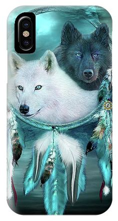 Dream Catcher White Wolf Black Wolf phone cases featuring the art of Carol Cavalaris. Wolf Black, White Wolf, Art Phone Cases, Iphone Cases, Dream Catcher White, Prints, Image, Arctic Wolf, White Wolves