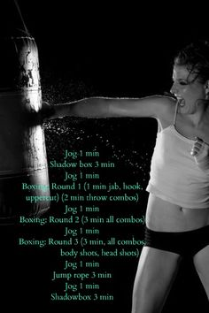 Get my boxing bag back up this weekend, yahoo, will do this workout :-)
