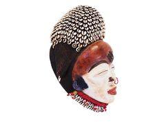 African Creative :: Punu Mask with Cowrie Shells - 1 #punumask #vintageafricanmask #beadedmask #tribaldecor #tribalmask Tribal Decor, African Masks, Child Day, Shells, Canada, Usa, Creative, Artwork, Shop