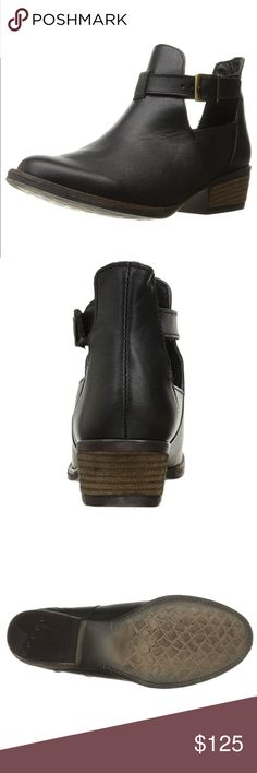 """Black Leather Boho Chic Buckle Ankle Boot Black Leather bootie. 100% leather. Imported.  Shaft measures approximately 5"""" from arch Heel measures approximately 1.5"""" By Artisan X Anthropology Curated Collection. Stock #1900 Anthropologie Shoes Ankle Boots & Booties"""