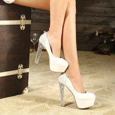 New Fashion White / Yellow Color Party/Club Platform OL High Heels Women Shoes