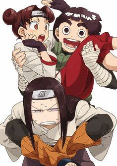 This is too perfect not to pin.  A surprised TenTen, enthusiastic Lee, and irritated Neji.  #naruto