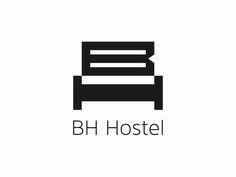 BH Hostel Logo by Eduard Kankanyan Sedona Hotels, Tucson Hotels, Seattle Hotels, Florida Hotels, Hotel Branding, Logo Branding, Logos, Best Hotel Deals, Best Hotels