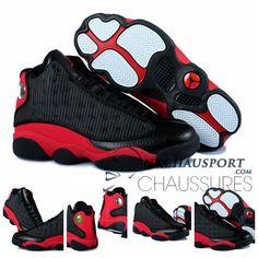 newest 8b520 ee309 Nike Air Jordan 13   Classique Chaussure De Basket Homme Cuir Noir-3  Sandales,