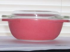 Pyrex Flamingo Pink 080 Individual Casserole 8 Ounce With Lid by thetrendykitchen on Etsy