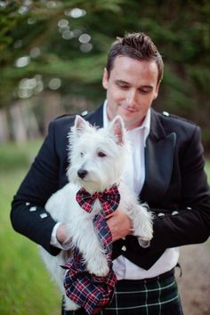 Scottish groom and his scottie dog #Dog at #Wedding … Wedding# ideas for brides, grooms, parents & planners https://itunes.apple.com/us/app/the-gold-wedding-planner/id498112599?ls=1=8 … plus how to organise an entire wedding, within ANY budget ♥ The Gold Wedding Planner iPhone #App ♥ For more inspiration http://pinterest.com/groomsandbrides/boards/ #garden #pets
