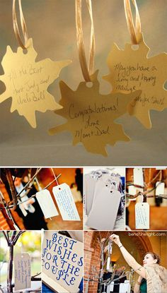 love the tree with the leaf tags instead of a guest book