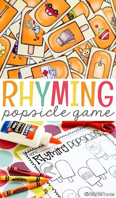Popsicles and summer just go together perfectly. While some popsicles are great by the pool, these popsicles are a great summer rhyming game for you and your students to enjoy together. Perfect for preschoolers who love to color! Preschool Printables, Kindergarten Worksheets, Kindergarten Classroom, Free Printables, Classroom Ideas, Classroom Resources, Preschool Ideas, Summer Worksheets, Free Worksheets