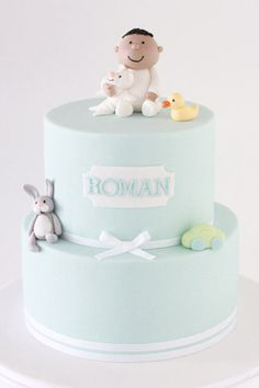 This cute 2 tier cake would suit any birthday or christening, for a girl or boy. It can be ordered at     http://www.sharonwee.com.au/store.html