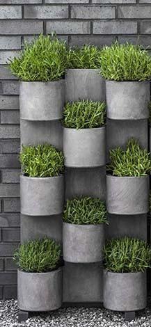 Campania International Fiber Cement Garden Anywhere Vertical Garden System 1