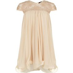 Dorothy Perkins Champagne flower lace dress