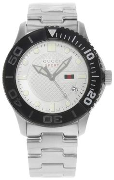 d38629c4553 Gucci White Dial Black Bezel G-timeless Sport 44mm (19101) Watch - Tradesy