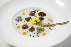 Fonduta fredda di Gorgonzola Dolce e insalata grigliata di Melone