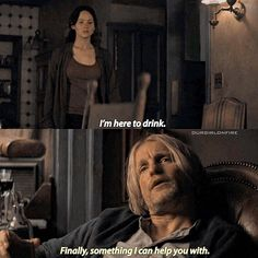 - Haymitch brought the comedy to The Hunger Games franchise. I love and miss him
